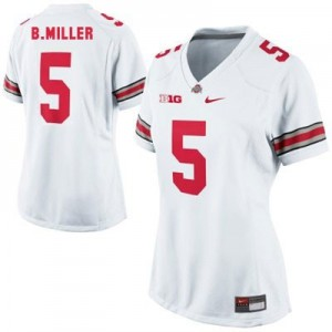 Braxton Miller Ohio State #5 Women Football Jersey - White