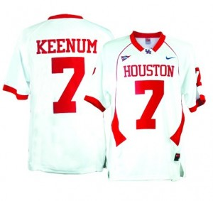 Case Keenum Houston Cougars #7 Football Jersey - White