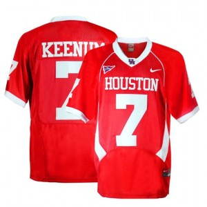 Case Keenum Houston Cougars #7 Youth Football Jersey - Red