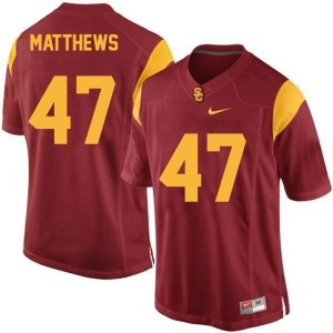 Clay Matthews USC Trojans #47 Youth Football Jersey - Red