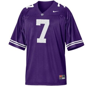 Collin Klein Kansas State Wildcats #7 Youth Football Jersey - Purple