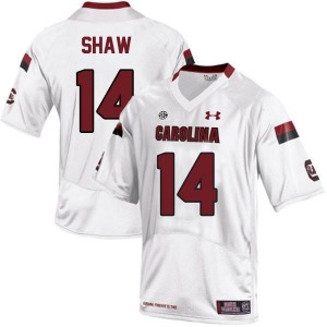 Connor Shaw South Carolina Gamecocks #14 Football Jersey - White