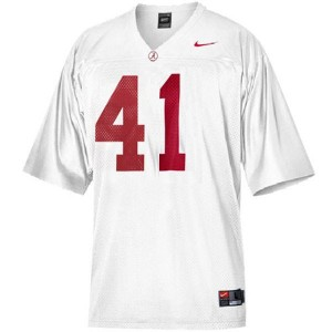 Courtney Upshaw Alabama #41 Youth Football Jersey - White