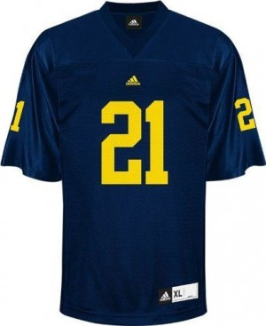 Desmond Howard Michigan Wolverines #21 Youth Football Jersey - Navy Blue