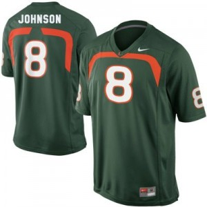 Duke Johnson Miami Hurricanes #8 Football Jersey - Green