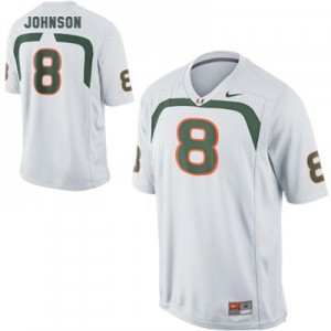 Duke Johnson Miami Hurricanes #8 Youth Football Jersey - White