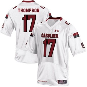 Dylan Thompson South Carolina Gamecocks #17 Youth Football Jersey - White