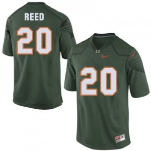 Ed Reed Miami Hurricanes #20 Football Jersey - Green