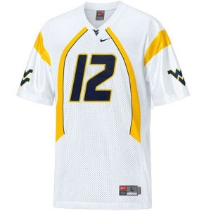 Geno Smith West Virginia Mountaineers #12 Football Jersey - White