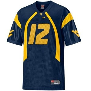 Geno Smith West Virginia Mountaineers #12 Youth Football Jersey - Blue