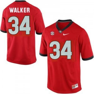 Herschel Walker (UGA) #34 Youth Football Jersey - Red