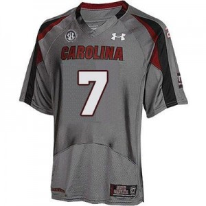 Jadeveon Clowney South Carolina Gamecocks #7 Football Jersey - Gray
