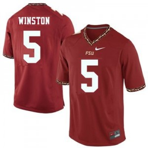 Jameis Winston 2013 (FSU) #5 Football Jersey - Garnet Red