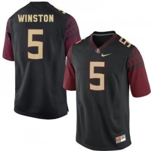 Jameis Winston 2014 (FSU) #5 Youth Football Jersey - Black