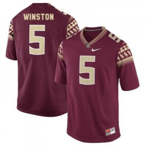 Jameis Winston 2014 (FSU) #5 Youth Football Jersey - Garnet Red