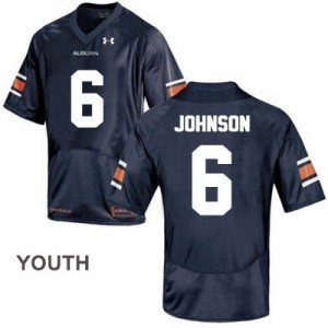 Jeremy Johnson Auburn Tigers #6 College Football Jersey - Blue - Youth