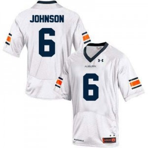 Jeremy Johnson Auburn Tigers #6 College Football Jersey - White