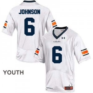 Jeremy Johnson Auburn Tigers #6 College Football Jersey - White - Youth