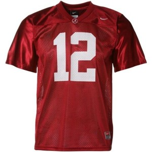Joe Namath Alabama #12 Mesh Youth Football Jersey - Crimson Red