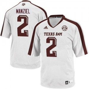 Johnny Manziel Texas A&M Aggies #2 Football Jersey - White