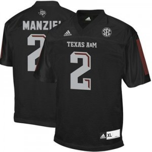 Johnny Manziel Texas A&M Aggies #2 Youth Football Jersey - Black