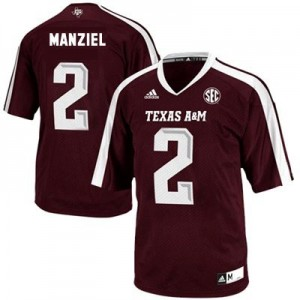 Johnny Manziel Texas A&M Aggies #2 Youth Football Jersey - Maroon Red