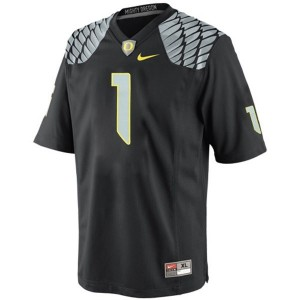 Josh Huff Oregon Ducks #1 Football Jersey - Black