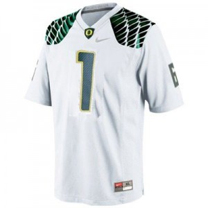 Josh Huff Oregon Ducks #1 Football Jersey - White