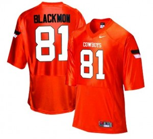 Justin Blackmon Oklahoma State Cowboys #81 Football Jersey - Orange