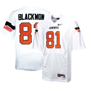 Justin Blackmon Oklahoma State Cowboys #81 Football Jersey - White