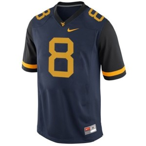 Karl Joseph West Virginia Mountaineers #8 Youth Football Jersey - Blue