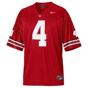 Kirk Herbstreit Ohio State Buckeyes #4 Football Jersey - Scarlet Red