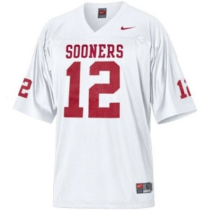 Landry Jones Oklahoma Sooners #12 Youth Football Jersey - White