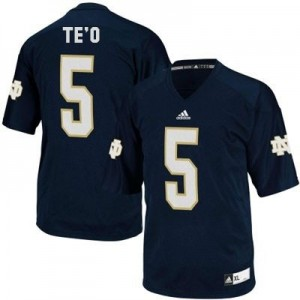 Manti Te'o Notre Dame Fighting Irish #5 Football Jersey - Navy Blue