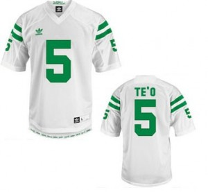 Manti Te'o Notre Dame Fighting Irish #5 Football Jersey - White