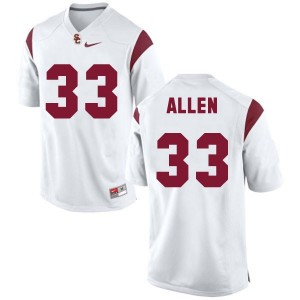 Marcus Allen USC Trojans #33 Youth Football Jersey - White