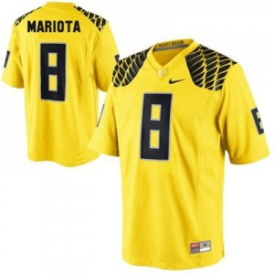 Marcus Mariota Oregon Ducks #8 Football Jersey - Yellow