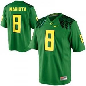 Marcus Mariota Oregon Ducks #8 Youth Football Jersey - Apple Green