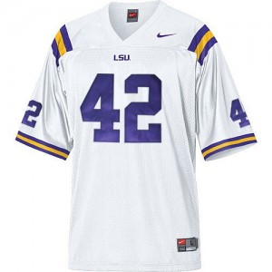 Michael Ford LSU Tigers #42 Mesh Football Jersey - White