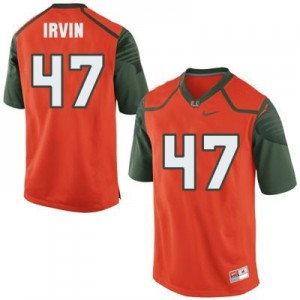 Michael Irvin Miami Hurricanes #47 Football Jersey - Orange