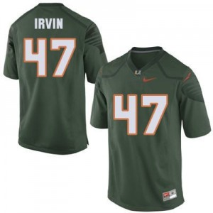Michael Irvin Miami Hurricanes #47 Youth Football Jersey - Green