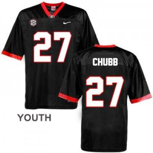 Nick Chubb (UGA) #27 Football Jersey - Black - Youth