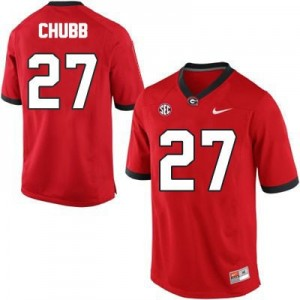 Nick Chubb (UGA) #27 Football Jersey - Red