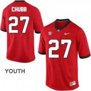 Nick Chubb (UGA) #27 Football Jersey - Red - Youth