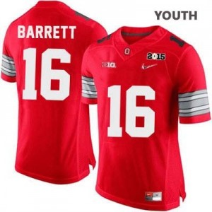 J.T. Barrett OSU #16 Diamond Quest 2015 Patch College Football Jersey - Scarlet - Youth