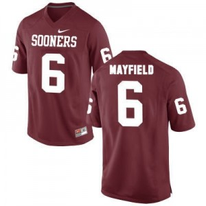 Oklahoma Sooners #6 Baker Mayfield Red Football Jersey