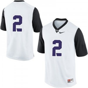 TCU Horned Frogs #2 College Football Jersey - White