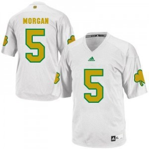 Nyles Morgan Notre Dame Fighting Irish #5 Shamrock Series Football Jersey - White