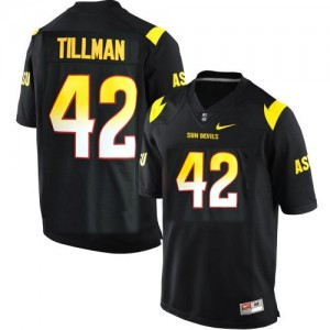 Pat Tillman (ASU) #42 Youth Football Jersey - Black