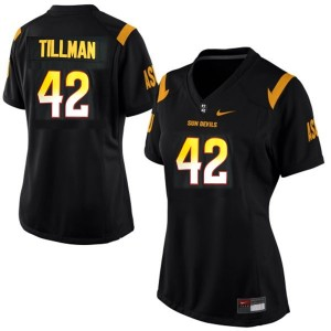 Pat Tillman (ASU) #42 Women Football Jersey - Black